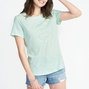 Old Navy Go Your Own Wave Graphic Tee XXL.